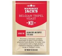 Сухие пивоваренные дрожжи Mangrove Jack's Belgian Tripel M31, 10 г
