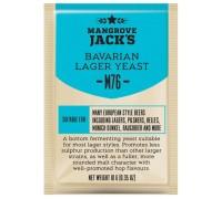 Сухие пивоваренные дрожжи Mangrove Jack's Bavarian Lager M76, 10 г