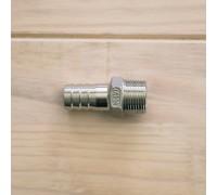 Штуцер нержавеющий со наружной резьбой 3/4NPT × 19 мм