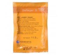 Сухие пивоваренные дрожжи Saflager S-189 (11,5 г), Fermentis