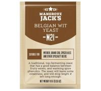 Сухие пивоваренные дрожжи Mangrove Jack's Belgian Wit M21, 10 г