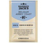 Сухие пивоваренные дрожжи Mangrove Jack's Belgian Abbey M47, 10 г