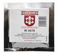 Сухие пивоваренные дрожжи низового брожения Gozdawa W-34/70, 10 г