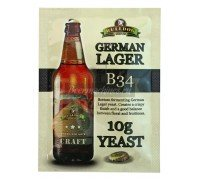 Сухие пивоваренные дрожжи BullDog B34 German Lager, 10 г