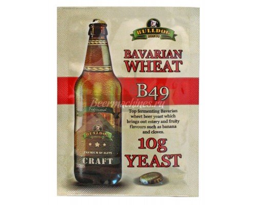 Сухие пивоваренные дрожжи BullDog B49 Bavarian Wheat, 10 г