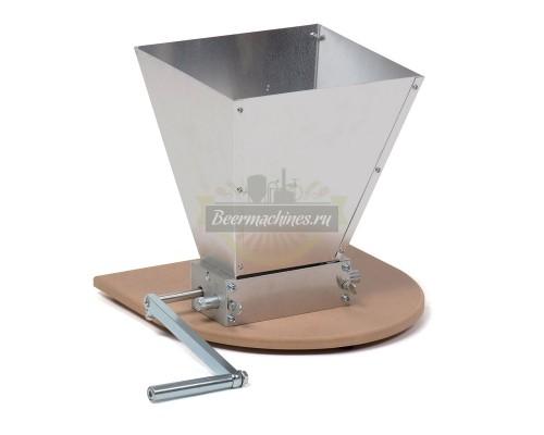 Двухвальцовая мельница/дробилка для солода с бункером и подставкой