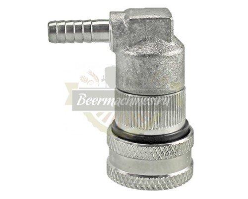 Коннектор KegLand Ball Lock металлический, исходящий (напиток) под шланг