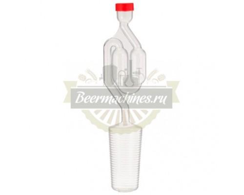 Гидрозатвор двухкамерный для бутылей 43–52 см