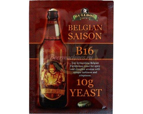 Сухие пивоваренные дрожжи BullDog B16 Belgian Saison, 10 г