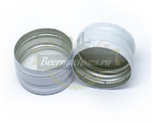 Алюминиевые колпачки с резьбой 28х18,белые, 10 шт