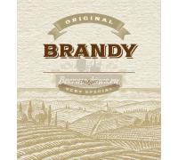 Этикетка для бутылки «Бренди»