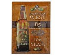 Сухие пивоваренные дрожжи BullDog B5 American West, 10 г