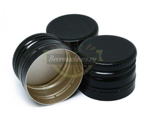 Алюминиевые колпачки с резьбой 31,5×24, черные, 10 шт