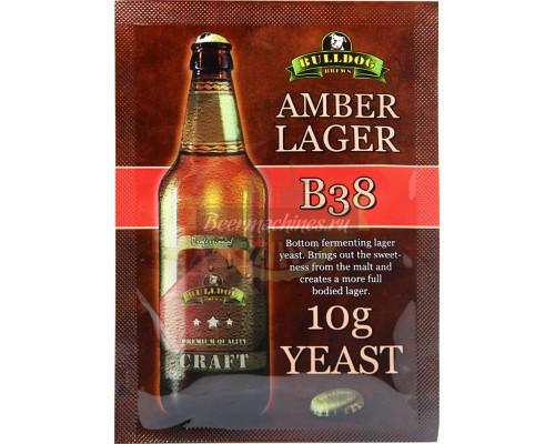 Сухие пивоваренные дрожжи BullDog B38 Amber Lager, 10 г