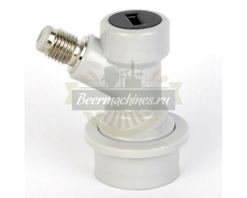 Коннектор KegLand Premium Ball Lock входящий (газ) с резьбой
