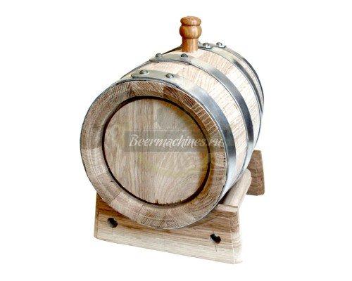 Дубовая бочка для самогона, коньяка, виски, вина (3 л)