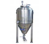 Конический стальной ферментер с рубашкой охлаждения и термоизоляцией (80 л)