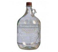 Бутылка стеклянная «Лоза», 5 л