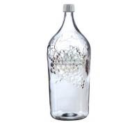 Бутылка стеклянная «Винная - Виноград», 2 л