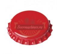 Кроненпробка «красная» со вспененной прокладкой ПВХ, 100 шт.